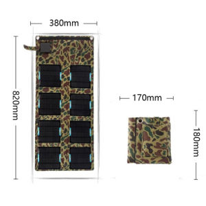24W 5V 18V USB DC 2 in 1 Foldable Solar Charger for Cellphone Laptop pictures & photos