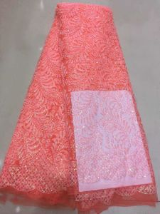 New Arrival High Quality Glitter Tulle Lace Fabric pictures & photos