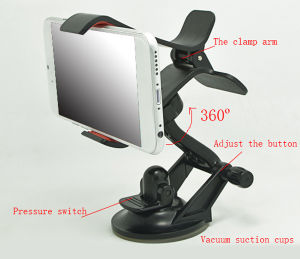 360 Degree Adjustable Universal Windshield Clip Cell Phone Car Holder for iPhone, Samsung, HTC and More pictures & photos