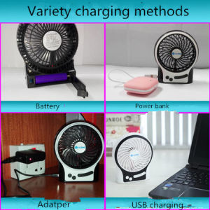 Portable Charging USB mini fan with 3 level wind speeding-Orange pictures & photos