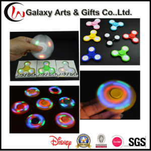 Hot Sale Fluorescent Light up Glow-in-The-Dark Hand Gyro LED Fidget Spinner pictures & photos
