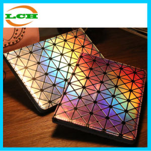 Laser Geometric Ling Leather Case for iPad pictures & photos