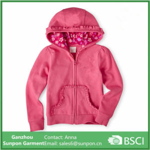 Top Quality Pink Fleece Jacket for Girls pictures & photos