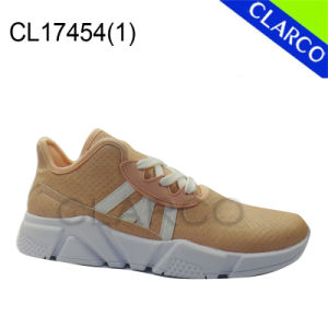 Women PU Leather Sports Walking Sneaker Shoes with EVA Sole pictures & photos