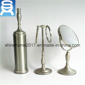 Three Pieces Mirror/Brush Holder/Towel Bar for Household or Hotel Sanitary Ware Fittings pictures & photos