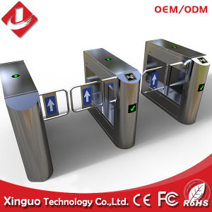 Stainless Steel Card Reader Swing Barrier for Superket pictures & photos