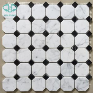 White Black Mosaic, Marble Mosaic, Granite Mosaic, Mosaic, Black Mosaic pictures & photos