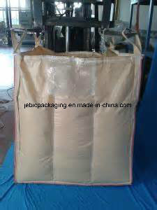 PE Liner Beige Baffle Flexible FIBC Bulk Bags for Packaging Starch Powder pictures & photos