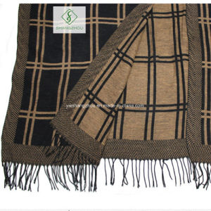 British Style Warm Dual-Purpose Lattice Tassel Furcal Scarf Shawl pictures & photos