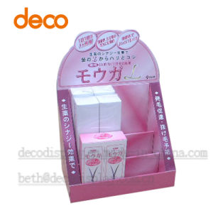 Paper Cardboard exhibition Stand Counter Display for Cosmetic pictures & photos