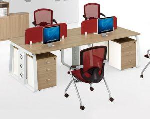 Melamine Office Partition 6 Seats L Shape Workstation (HX-NCD302) pictures & photos
