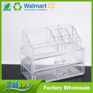 Acrylic Jewelry & Cosmetic Storage Makeup Organizer, Clear, 2 Piece pictures & photos