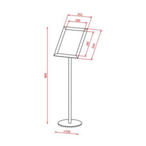 5175 A4 Steel Literature Holder with Snapframe Exhibition Stand Display Shelf pictures & photos