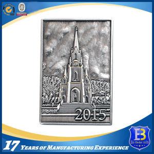 Custom 3D Metal Coin with Transparent Enamel (Ele-C033) pictures & photos