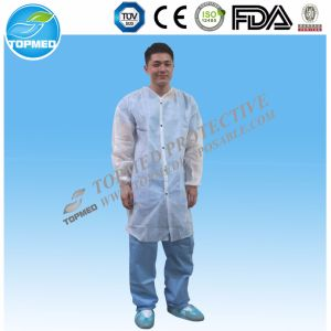 Good Price PE Visitor Disposable Lab Coats pictures & photos