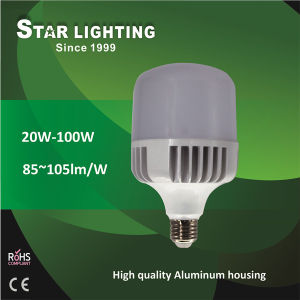 Good Quality 40W LED Aluminum T Bulb 50W 60W 80W LED Bulb pictures & photos