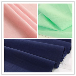 Woven Spandex Stretch Nylon Cotton Slubby Fabric for Garment