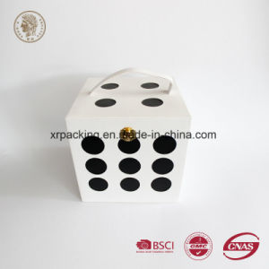 Dice Shape PU Leather Box pictures & photos