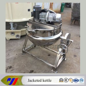 100L Steam Heating Jacketed Cooking Kettle with Emulsion Motor pictures & photos