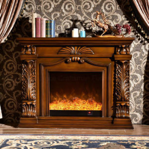 Home Furniture European LED Lights Electric Fireplace with Heater (327B) pictures & photos
