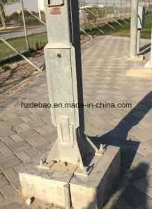 Galvanized Steel Lodging Camera Pole with Winch pictures & photos