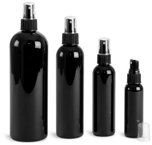 1oz 2oz 4oz 8oz 16oz Black Cosmo Pet Bottle with Fine Mist Sprayer pictures & photos