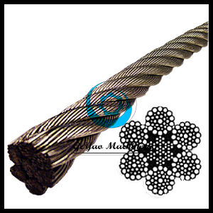 Moderate Strength 304 6*37 Stainless Steel Iwrc Wire Rope pictures & photos