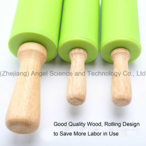 Cake Paste Dough Baking Flour Wood Rolling Pin with Silicone Sk37 (M) pictures & photos