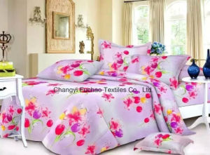 Printed Pattern Poly/Cotton King Fitted Bedspread Patchwork Bedding Set pictures & photos