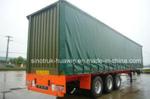 3 Axles Cargo Box Van Curtain Side Semi Trailer pictures & photos