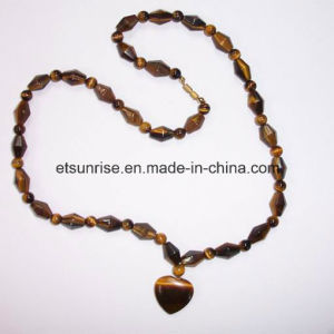 Semi Precious Stone Natural Crystal Tiger Eye Amethyst Charming Necklace Jewelry pictures & photos