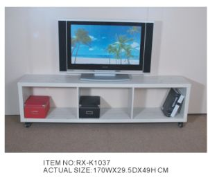 Full Wood TV Stand with Wheels (RX-K1037)
