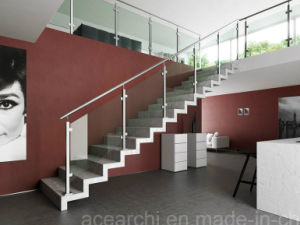 Stainless Steel Balcony Glass Railing / Glass Balcony Balustrade with American Standard pictures & photos