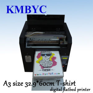 Flatbed Digital High Quality A3 Size T-Shirt Printing Machine Prices pictures & photos