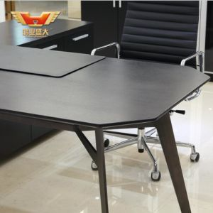 Black Elm High Grade New Style Modern Office Table pictures & photos