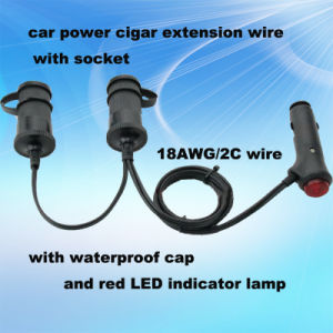 12V 24V Auto Cigar Lighter Adapter with Two Sockets and Waterproof pictures & photos