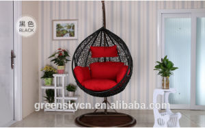 PE Rattan, Bedroom Rattan Wicker Cane Hanging Egg Swing Chair with Stand pictures & photos