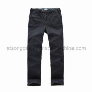 Purity Black Cotton Spandex Men′s Trousers (GA197116) pictures & photos