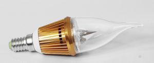 3W E14 Golden Color LED Candle Bulb Light (LC-JP005) pictures & photos