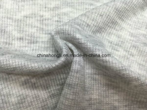 High Quality 2*2 Rib, R/Sp 96/4, 200GSM, Light Grey Knitting Fabric with Soft Handfeel pictures & photos