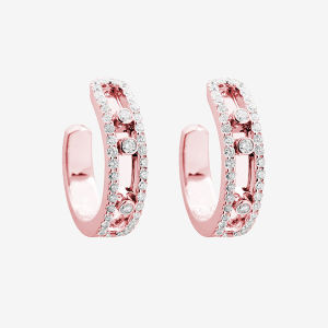 925 Hoop Earrings with Micro Setting Diamond Move Jewelry pictures & photos