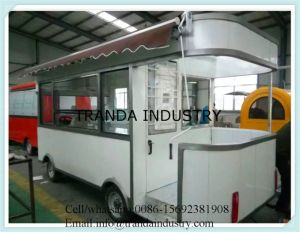 Soft Drink Food Trolley Mobile Coffee Cart pictures & photos