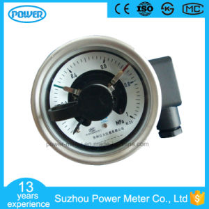 2.5 Inch Electric Contact Pressure Gauge MPa 1 Back Connection PT1/4 pictures & photos