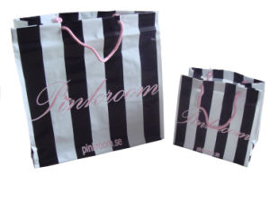 Custom Printed String Handle Bags for Shopping (FLS-8232) pictures & photos
