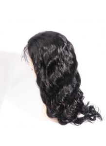 Natural Color Body Wave Peruvian Virgin Human Hair Glueless Silk Top Full Lace Wigs with Baby Hair pictures & photos