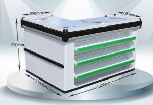 Supermarket Retail Stainless Cash Counter with Conveyor Belt 1034