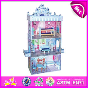 2014 Fashion New Wooden Dollhouse Toy, Educational Children Dollhouse Toy, Hot Sale 3D Wooden Baby Dollhouse Toy Factory W06A079 pictures & photos