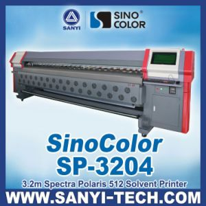 3.2m Outdoor Sticker Printer, Sinocolor Sp-3204 with Spectra Polaris Pq512 Heads pictures & photos