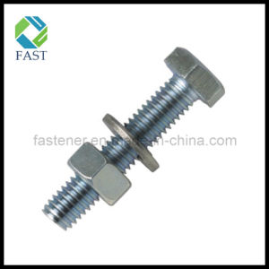 Zinc Plated Galvanized Carbon Steel Hex Bolt with Nut and Washer