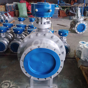 ANSI Morted Gear Type Carbon Steel Ball Valve with Flange pictures & photos